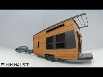 OFF-GRID MODERN TINY HOUSE ON WHEELS